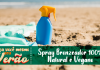 Spray Bronzeador 100% Natural e Vegano